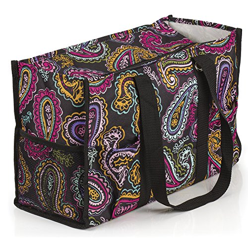 All Purpose Utility Tote Bag (17'' L x 11'' H x 6'' D, Paisley) by Dawhud Direct (Image #1)