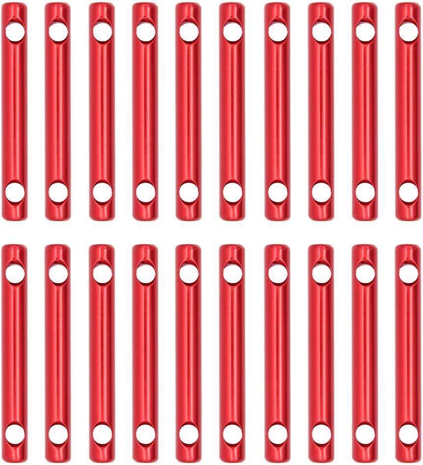 LIOOBO 8 st/ücke Aluminiumlegierung Paracord Spanner Guyline Line Adjuster Zelt Stake Cord Lock f/ür Camping jeweils 2 rot, blau, schwarz Gold Picknick Shelter Outdoor Backpacking