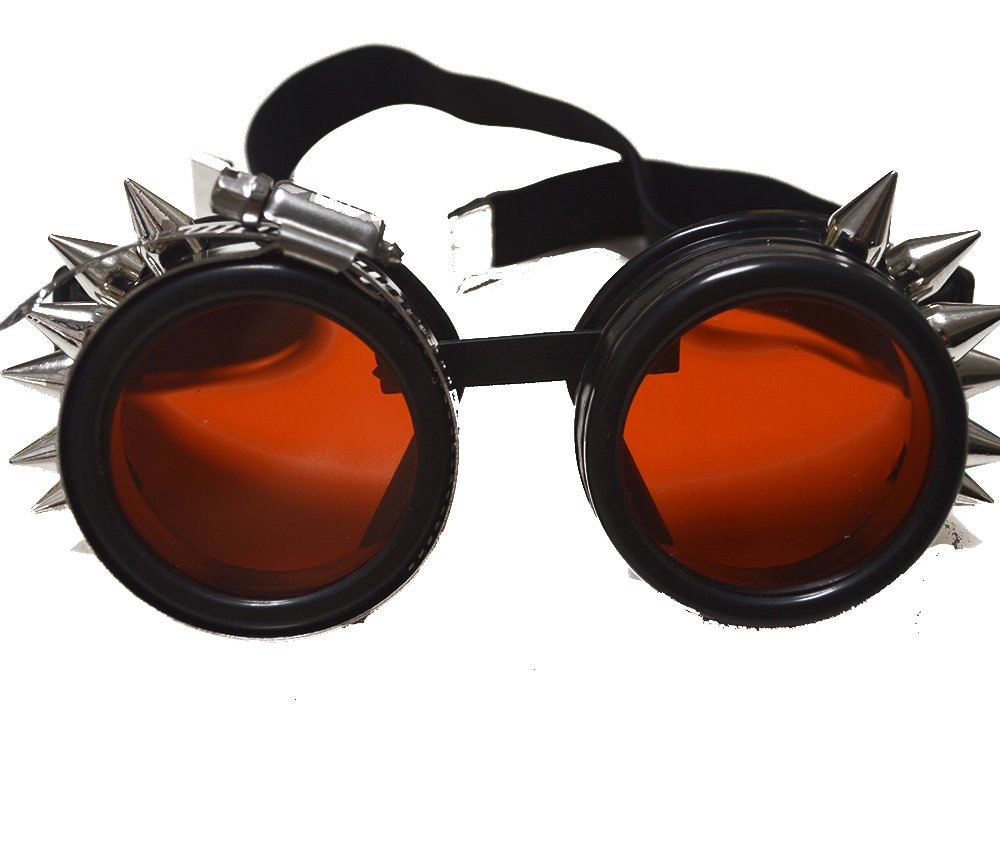 Holographic Burning Man Steampunk Victorian Style Goggles Aviator Welding Bike Eye Cup Glasses