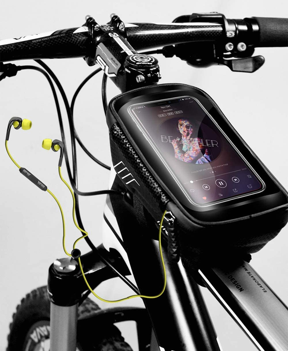 Waterproof Bicycle Cycling Top Tube Front Frame Pouch Storage Bag Phone Holder