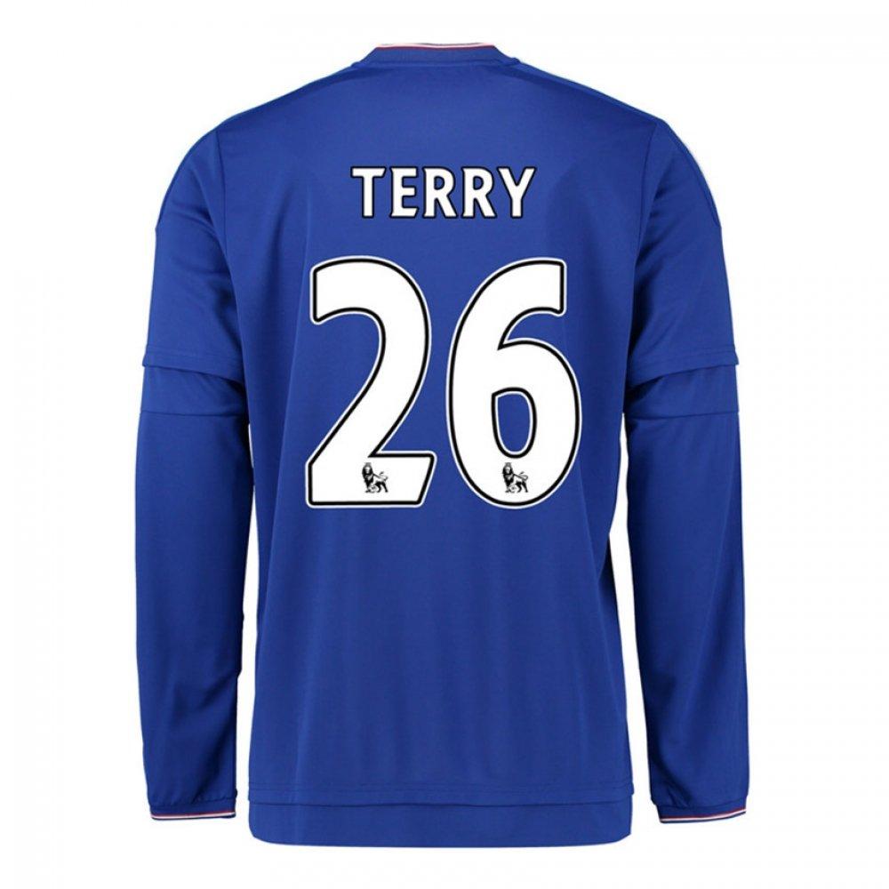 2015-2016 Chelsea Home Long Sleeve Football Soccer T-Shirt Trikot (John Terry 26)
