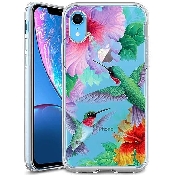 Amazon Com Personalized Flower Hummingbird Iphone Xr Phone Case