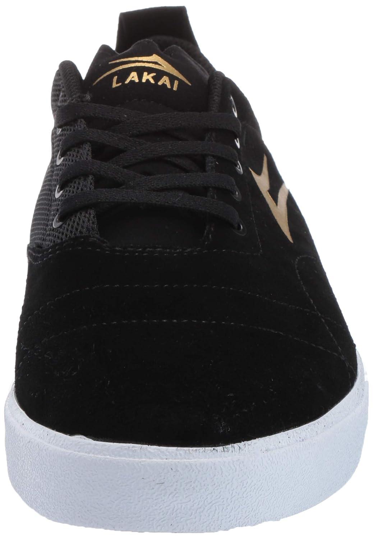 Lakai Footwear Bristol Black//Gold Suedesize Tennis Shoe