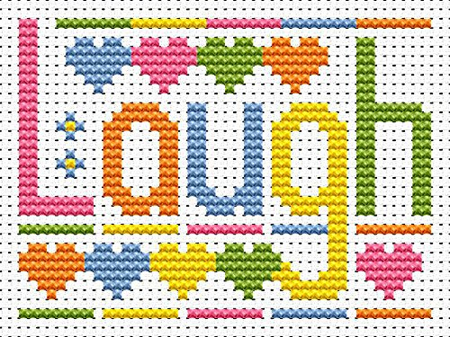 Sew Simple Laugh Cross Stitch Kit by Fat Cat Cross Stitch