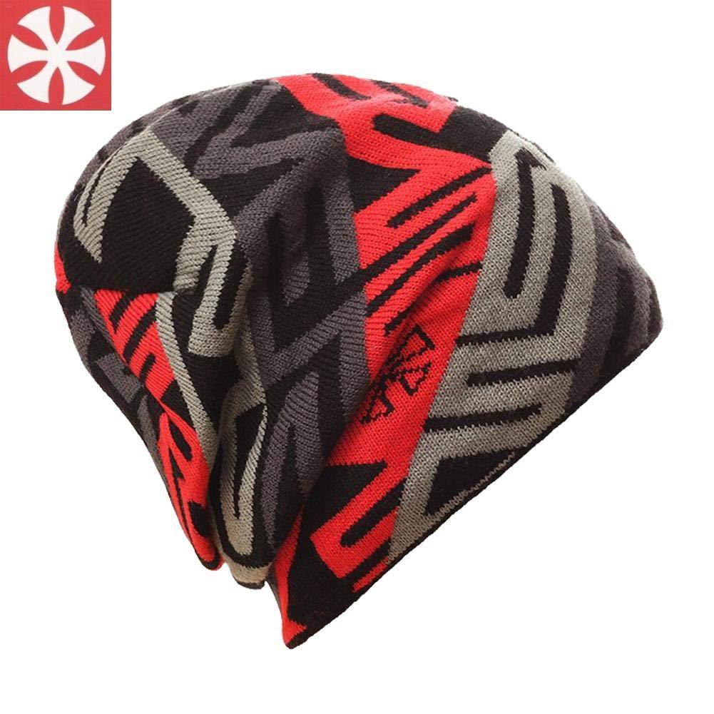 IrahdBowen Cappello da sci per uomini e donne, cappelli in maglia, cappelli da sci, cappelli da sci, cappelli in lana, cappelli spessi in maglia Ski Skull Cap con fodera in pile verde