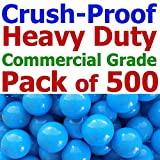 My Balls Pack of 500 Jumbo 3'' Sky-Blue Color Commercial Grade Ball Pit Balls - Crush-Proof Phthalate Free BPA Free PVC Free Lead Free Non-Toxic Non-Recycled Plastic