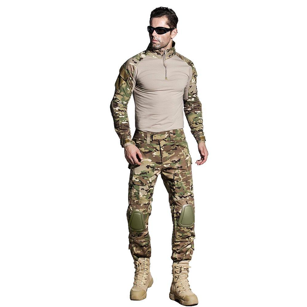 cedaract mimetica BDU uniforme esercito G3multicamo Camicia con gomitiere e pantaloni con ginocchiere