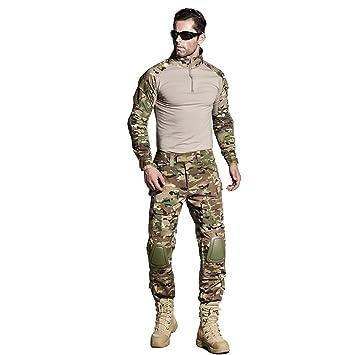 CedarAct Camo BDU - Pantalón de Uniforme de Combate con Codo y ...