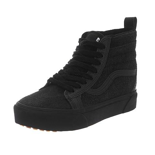 e84afbdff6 Vans - Trainers - UA SK8-Hi Platform M (MTE) Black Black  Amazon.co ...