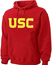 70b031c5377 USC Trojans Mens Crimson Screened Wordmark Hoodie Sweatshirt by 289c