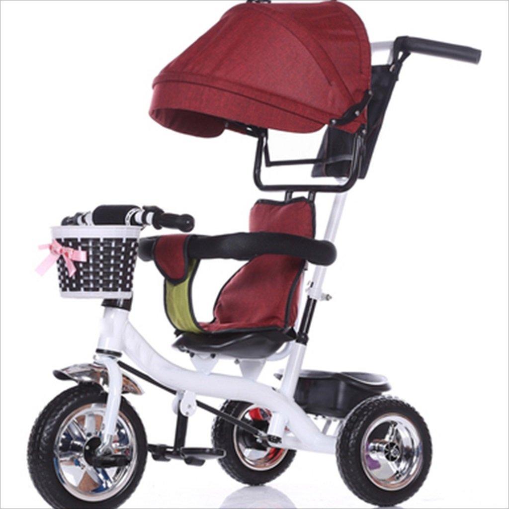 子供の屋内屋外の小さな三輪車自転車の男の子の自転車の自転車6ヶ月-6歳の赤ちゃん3つのホイールトロリー天井、固体プラスチックホイール (色 : 8) B07DV7XV4X 8 8