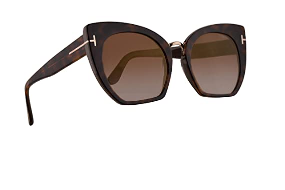 f3d7a1b8aa00a Amazon.com  Tom Ford FT0553 Samantha-02 Sunglasses Havana w Brown ...