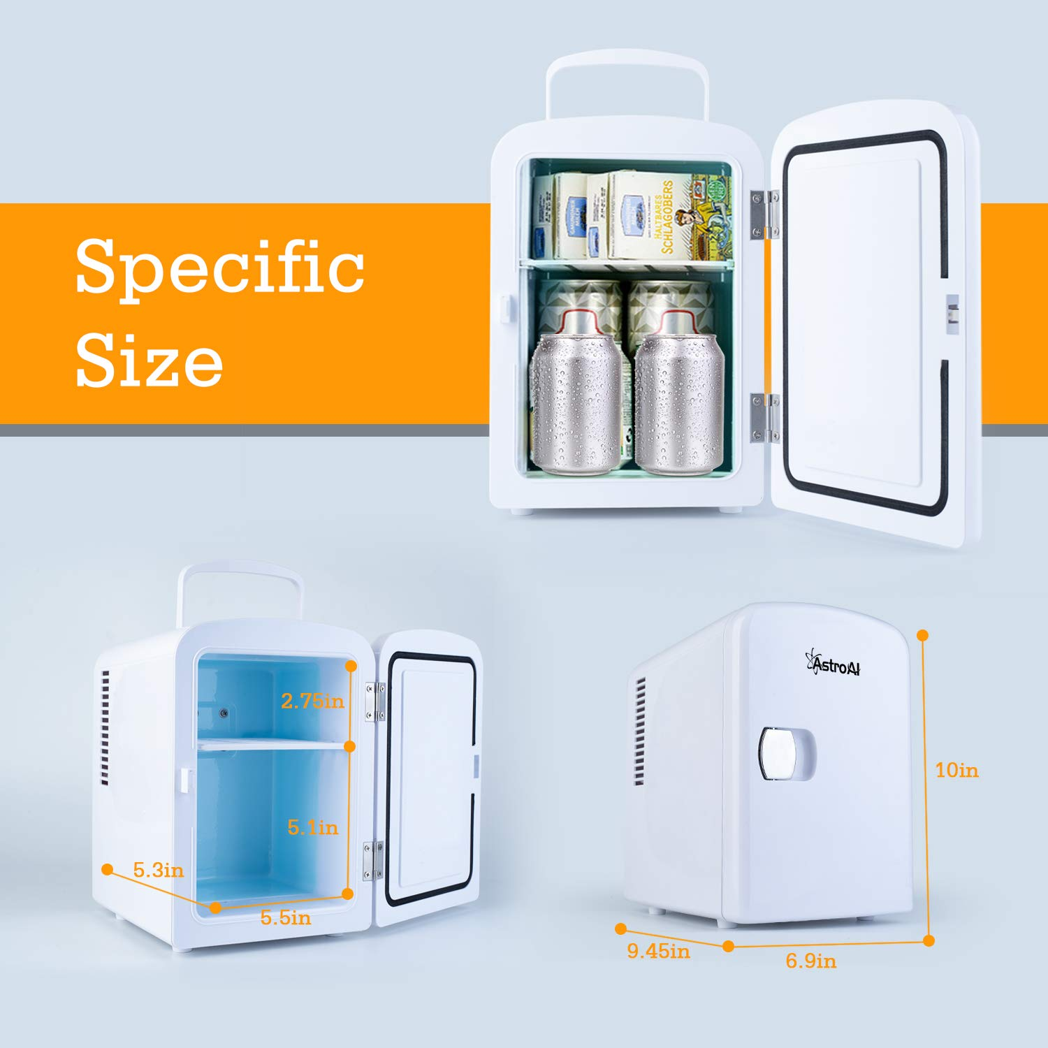 Astroai Mini Fridge Portable