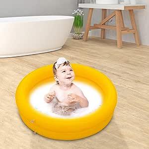 Piscina hinchable para el hogar, para el exterior, para bebés, piscinas pequeñas para mascotas, color amarillo: Amazon.es: Salud y cuidado personal