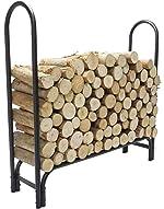 4 FT Firewood Rack Log Holder, Firewood Holding Rack Indoor, Firewood
