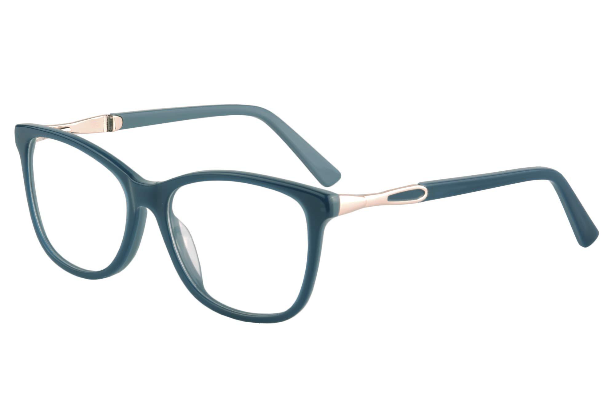 SHINU Acetate Cateye Frame Progressive Multifocus Anti Blue Light No Headach Reading Glasses-RD142(blue, anti-blue up 0 down 2.00)