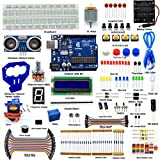 Adeept New Ultrasonic Distance Sensor Starter Kit for Arduino UNO R3, LCD1602, Breadboad, DC Motor, Starter/Beginner Kit for Arduino with User Manual/Guidebook(PDF) and C Code