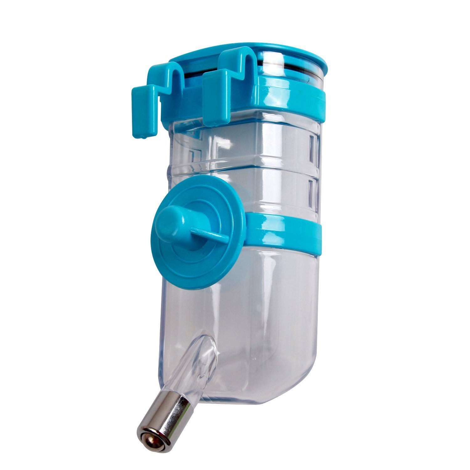 BXT Automatic Pet Water Bottle for Dogs Cats Rabbits Ferrets, 13.5 oz Capacity Rear-filling Water Feeder Hanging No-Drip Water Drinking Holder- Keep Your Pet Hydrated (Blue)