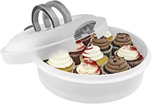 Southern Homewares 3-in-1 Plastic Holder Container for Cakes, Pies, Cupcakes, Muffins Dessert Carrier, One Size, Clear