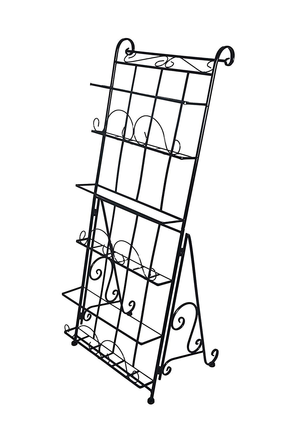 AXDT Floor Standing Magazine Rack Holder Organizer, Brochure Magazine Catalog Literature Display Holder Rack, Elegant Design Metal Rack for Home, Trade Show, Office and Retail Store by AXDT (Image #2)