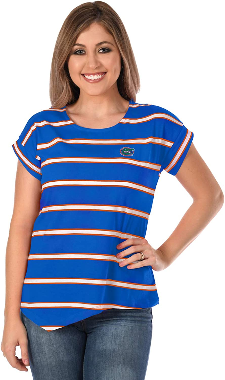UG Apparel NCAA Womens Asymmetrical Striped Top