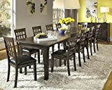 A-America Bristol Point 132″ Rectangular Dining Table with (3) 24″ Leaves, Warm Grey Review
