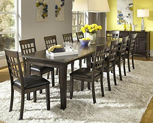 "A-America Bristol Point 132"" Rectangular Dining Table with (3) 24"" Leaves, Warm Grey"