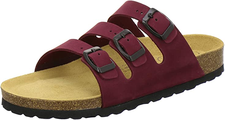 AFS Schuhe 2133 sportliche Damen Pantoletten aus Leder