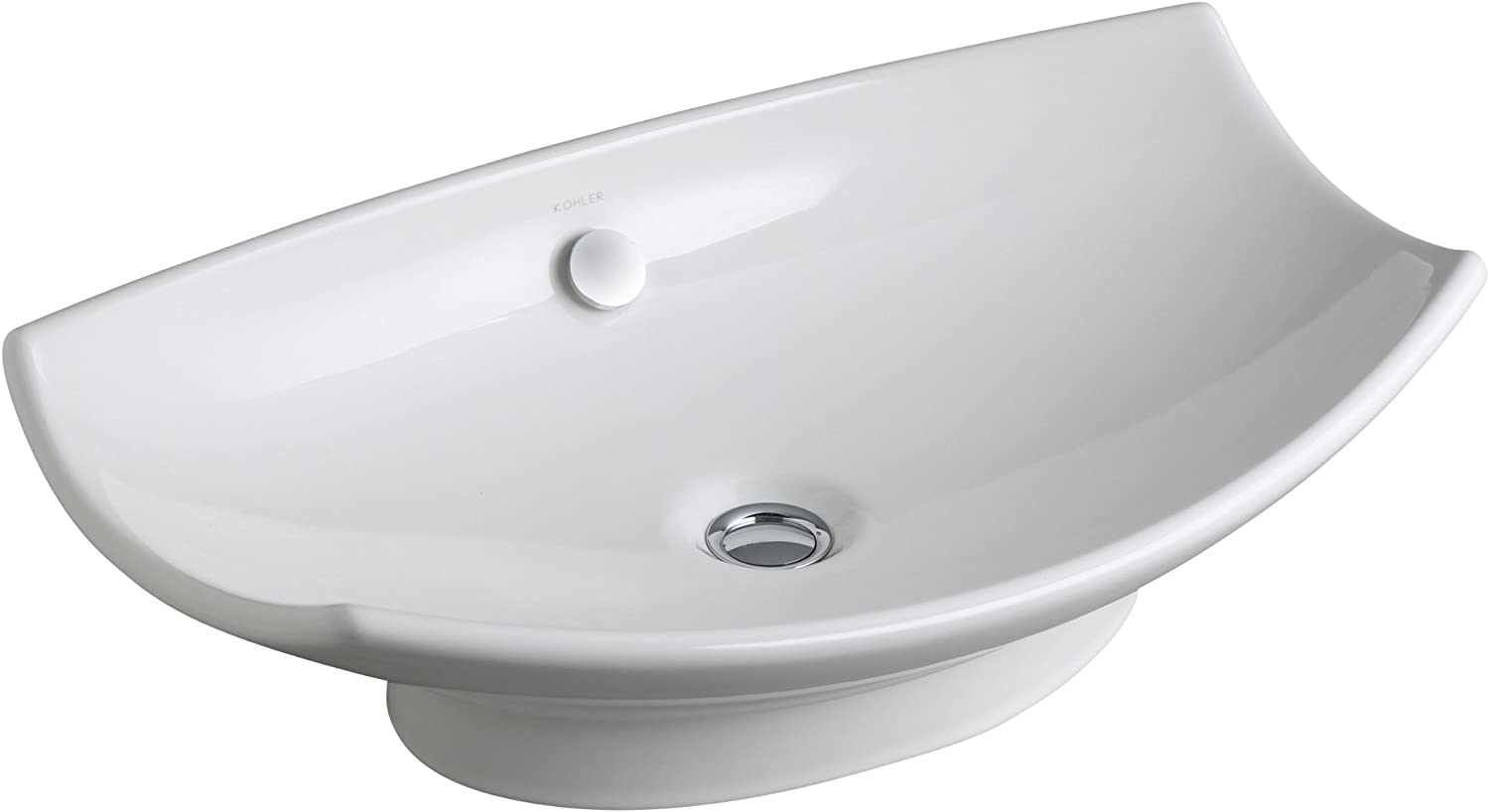 KOHLER K-2530-0 Leaf Vessels Bathroom Sink, White