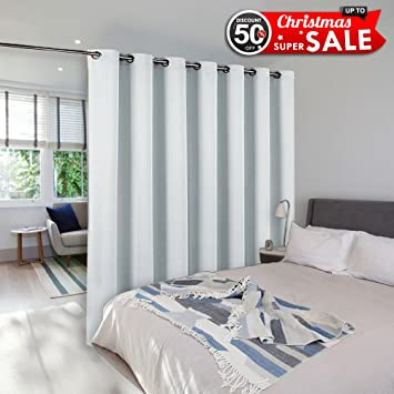 Room Dividers Curtains Screens Partitions   NICETOWN Function Thermal  Blackout Patio Door Curtain Panel, Sliding