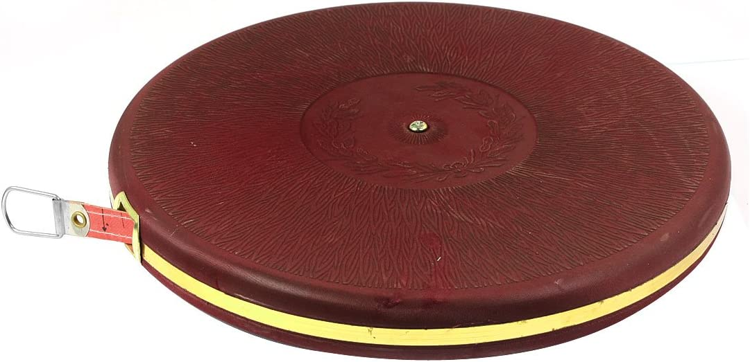 uxcell Engineer Burgundy Round Shaped 100M Range Reel Measuring Tape