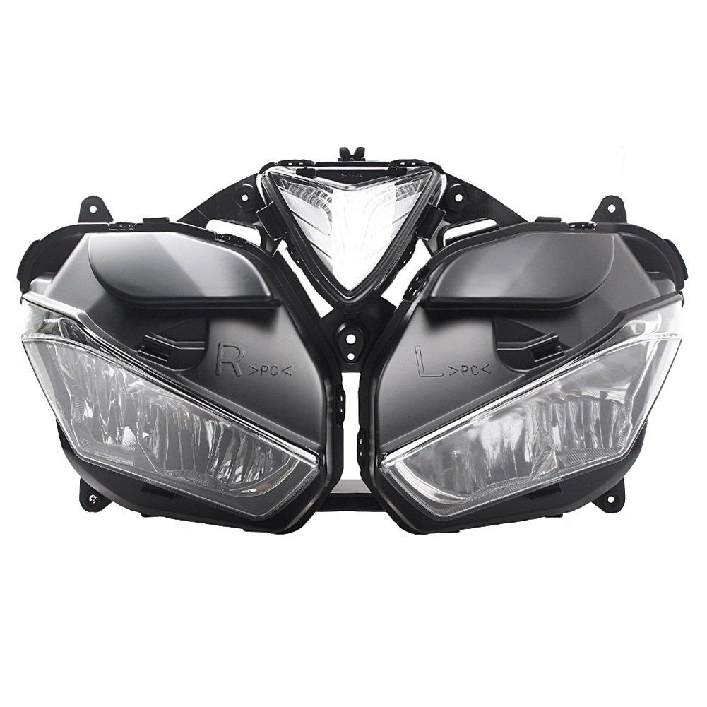 バイク 高品質 ヘッドライト カバー 電球なし 専用設計 ABS製 交換 防水 耐衝撃 耐熱 ドレスアップ カスタム 外装 パーツ ヤマハ YZF-R25 YZF R25 YZF R3 2013 2014 2015 2016 2017 B07RY91N4P
