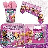 Pink Paw Patrol Partygeschirr Pack für 8