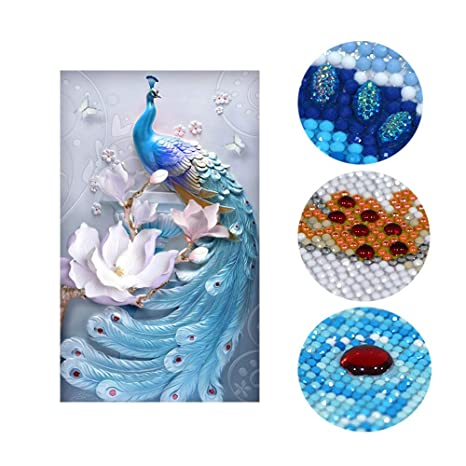 17.7x 17.7 DIY Handwork Store 5D DIY Diamond Painting Kit Rabbit Full Drill Round Mosaic Cross Stitch Paint by Numbers Arts Crafts Gift Home Decor