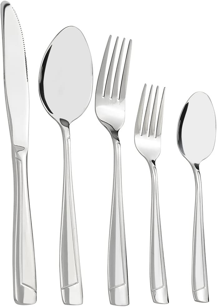 Cand 80 Piece Stainless Steel Flatware Set, Service for 16