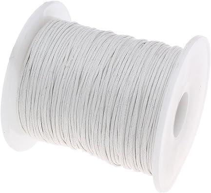 75 m cordón de algodón blanco encerada joyas 1 mm cera hilos ...