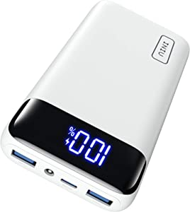 INIU Portable Charger, 20W PD3.0 QC4.0 Fast Charging LED Display 20000mAh Power Bank, Tri-Outputs Battery Pack Compatible with iPhone 12 11 XS X 8 Samsung S20 Google LG iPad Tablet etc. [2021 Version]