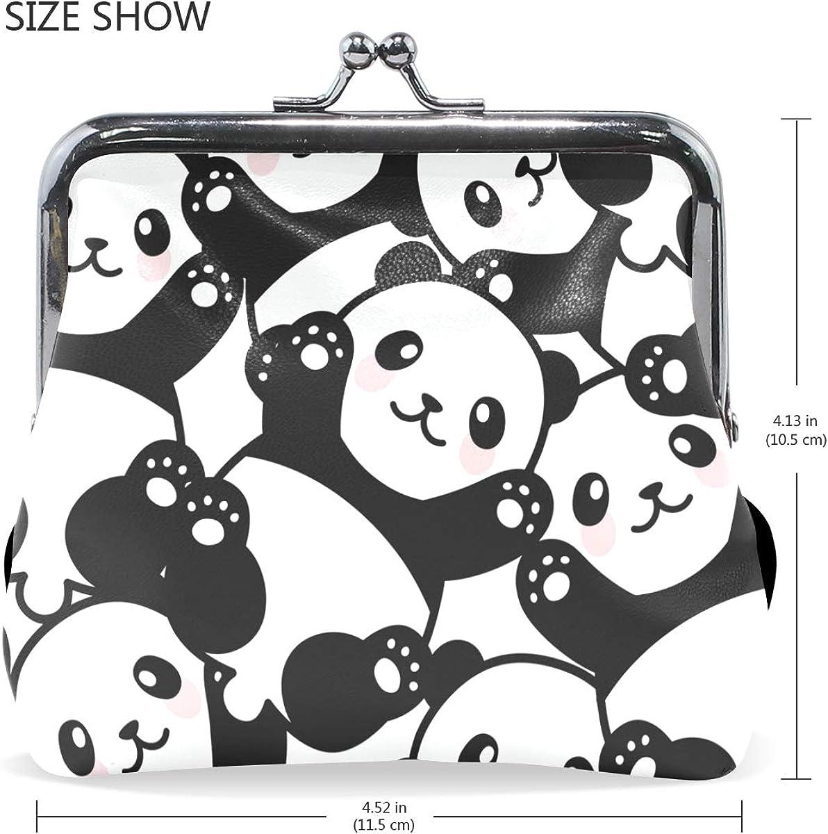 Panda Baby Pattern Cute Buckle Coin Purses Buckle Buckle Change Purse Wallets