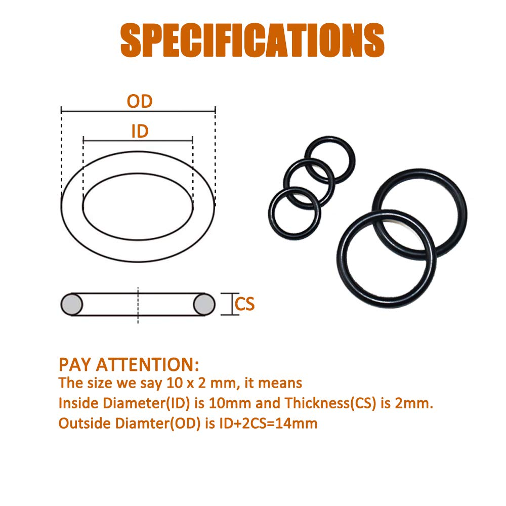 18 Sizes Washer Gasket Sealing Ring for Plumbing ISPINNER 400pcs Rubber O-Ring Assortment Kit Automotive Air or Gas Connections Faucet Repairs Mechanic