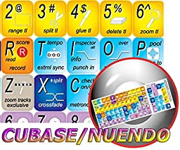 STEINBERG CUBASE / NUENDO NEW KEYBOARD LABELS SHORTCUTS
