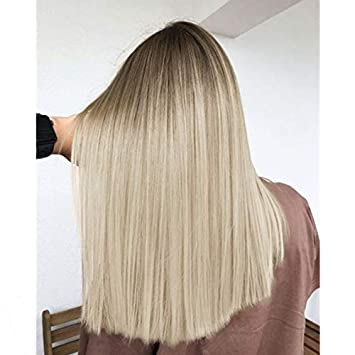 Ombre Hair Brown To Blonde Medium Length Straight Up To 75 Off Free Shipping