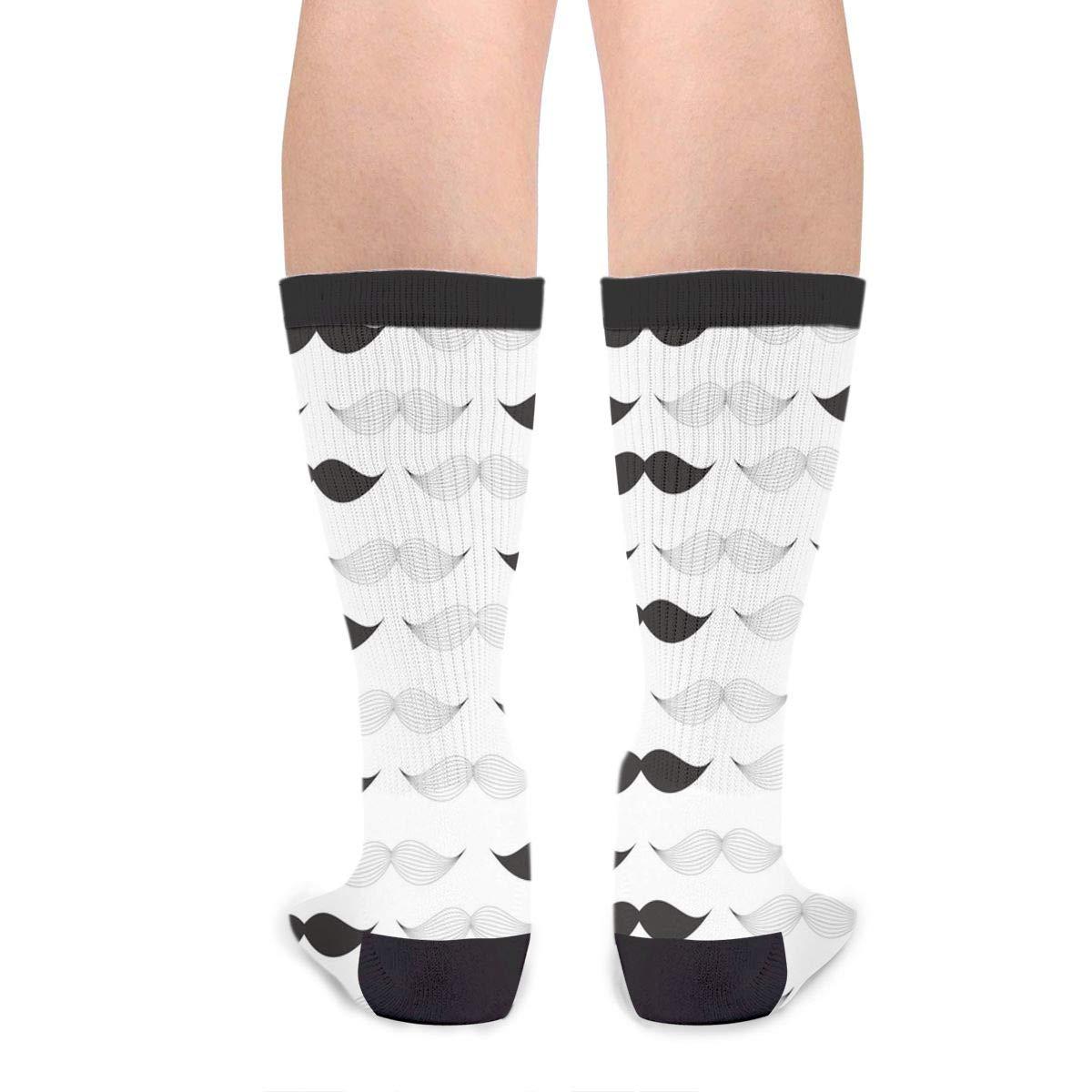 Fashion Travel Breathable Socks Moustache Black White Happy Fathers Day Men /& Women Running Casual Socks