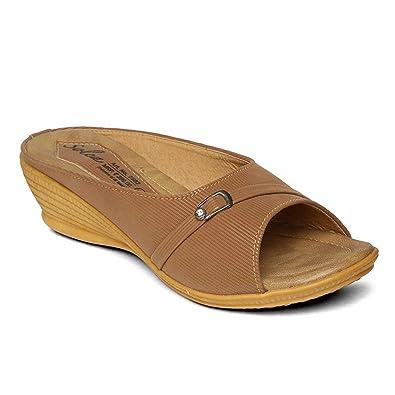 198eaf7a1296 PARAGON SOLEA Plus Women's Brown Flip-Flops: Buy Online at Low ...