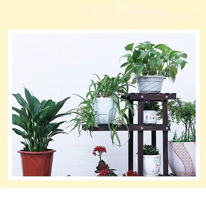 ZRHJ Soporte de Plantas en Maceta de Madera, Estante de exhibición ...