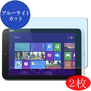 【2 Pack】 Synvy Anti Blue Light Screen Protector for Acer ICONIA W3-810 8.1