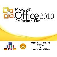 Microsoft® Office 2010 Professionnel 32 Bits & 64 Bits - Clé de Licence Originale par Postale et E-Mail + Instructions de TPFNet® - Livraison Maximum 60min