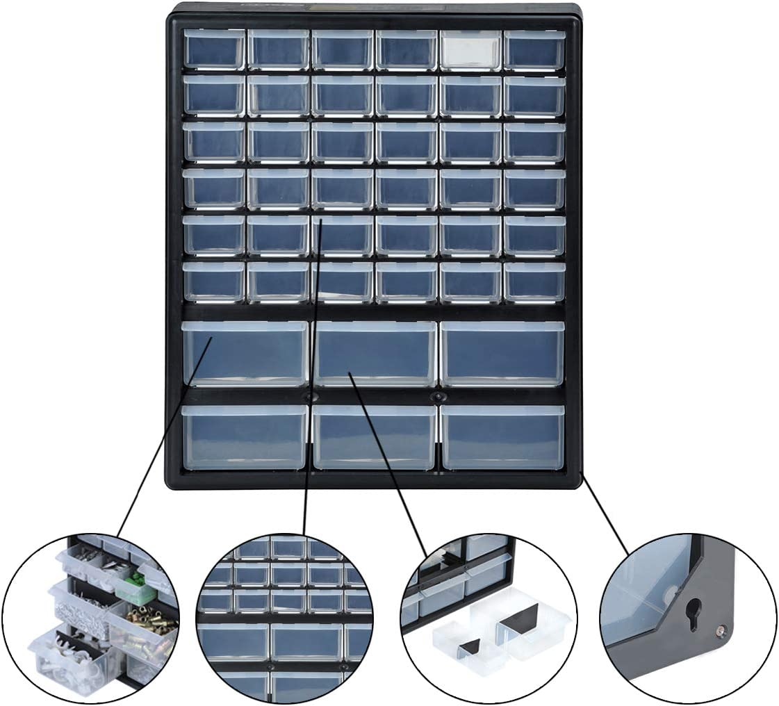 Elegant Black MEIJIA 33-Drawer Tool Cabinets Extra Capacity for tools