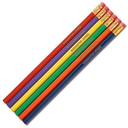 Primary Personalized Pencils Set Of 12 Engraved Name Hardwood 2 School Pencils Custom Pencils
