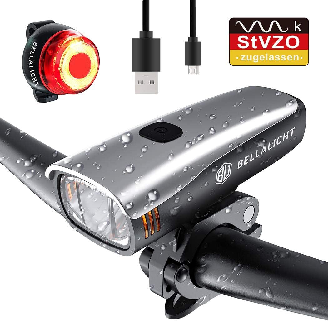 BELLALICHT Juego de Luces LED para Bicicleta, 60 Lux, 2 ...