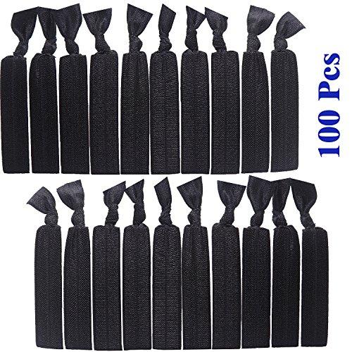 100 pack no crease hair ties - 2